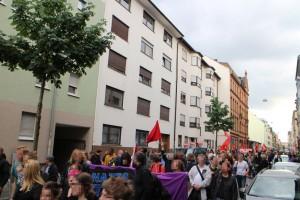 Kundgebung vor S4, 3, dem Wohnhaus von Christian Hehl