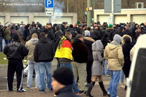 Hooligan-Kundgebung am Hauptbahnhof (c) Beobachternews.de