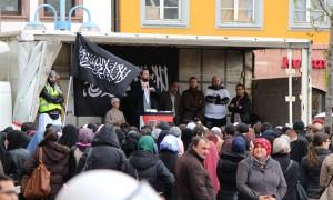 Kundgebung des Salafisten Pierre Vogel